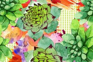 Floral botanical watercolor