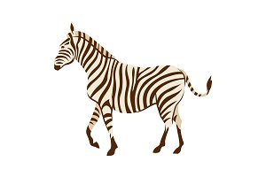Stylized illustration of zebra.