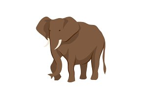 Stylized illustration of elephant.