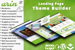 Arin Landing Page Theme Builder WP