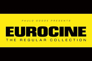 Eurocine Regular Collection 12 Fonts
