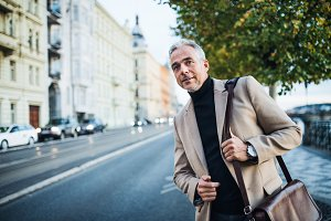 Mature businessman standing on the