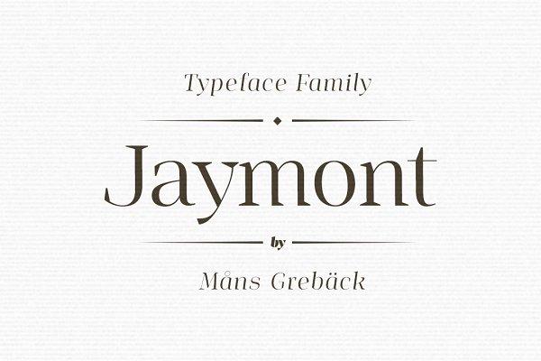 Serif Fonts: Mans Greback - Jaymont - Ten style serif family
