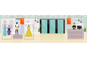 Clothing store vector