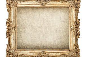 Antique golden picture frame JPG