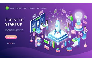 Business Startup Online Web Banner