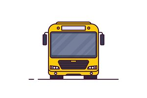Front view of city bus