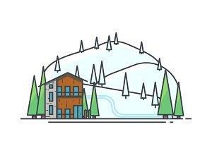 Ski snow house