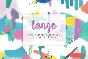 Abstract Watercolor Shapes Clipart