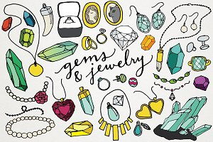 Gems & Jewelry Clipart Illustrations