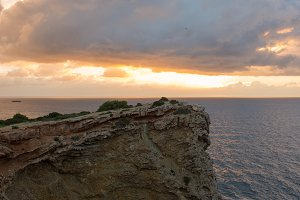 Sunrise in the Cap Martinet on the i
