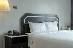 Closeup  Luxury Interior bedroom