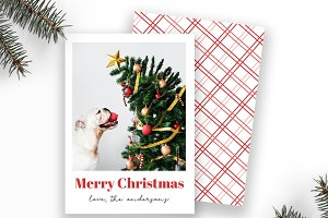 Modern Christmas Card Template
