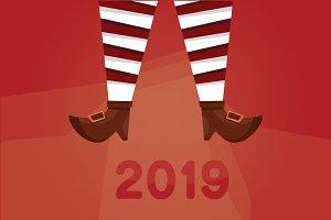 Christmas shoes Santa Claus and elf