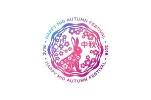 Floral Emblem with Rabbit