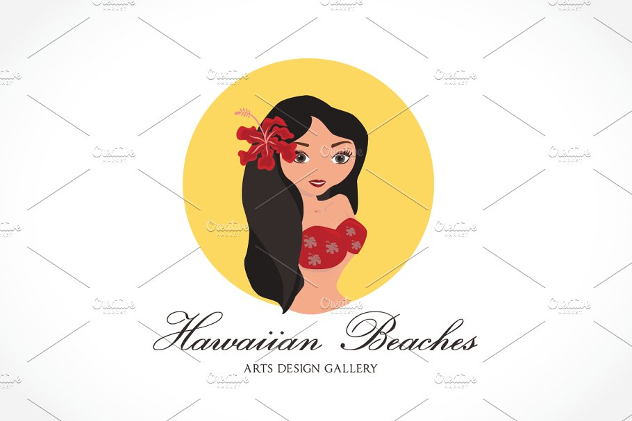 Hawaiian Beaches Girls Logo in Logo Templates - product preview 8