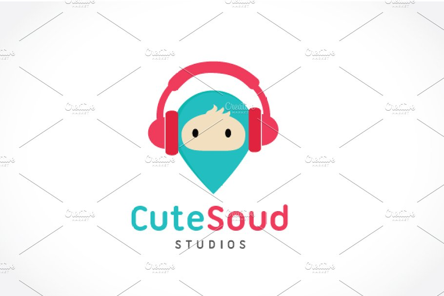 Cute Sound Studios in Logo Templates - product preview 8
