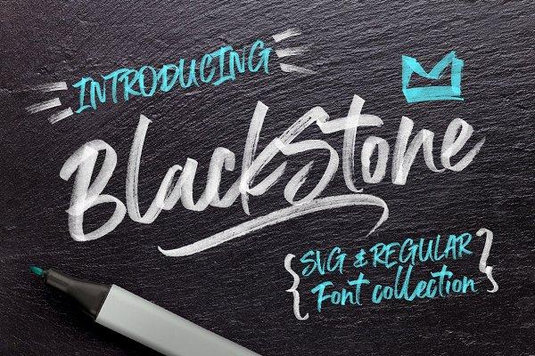 Black Stone Marker + SVG