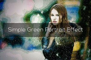 Simple Green Portrait Effect