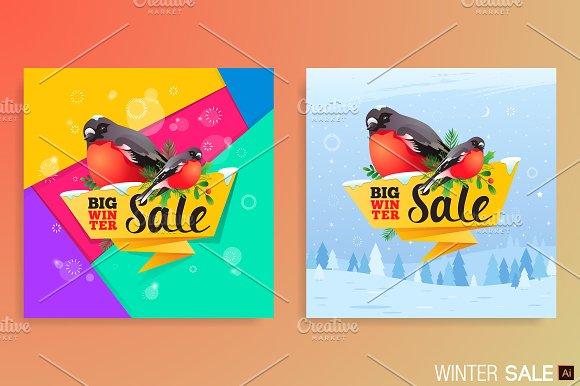 Winter Sale Banners Mexican Banners