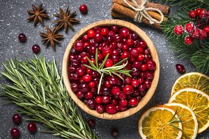 Ingredients for Christmas food drink