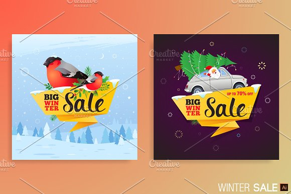 Winter Sale Banners Massage Therapy Banners