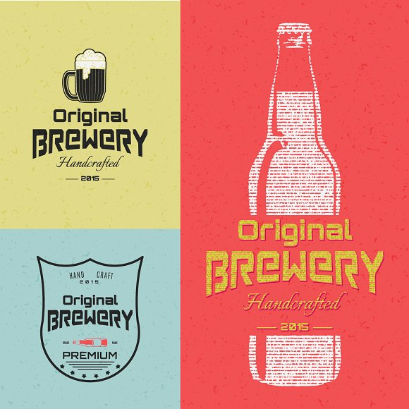 Beer vector set badges and logos in Logo Templates - product preview 2