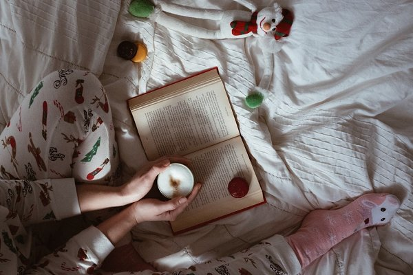 Holiday Stock Photos: Justyna Ka Photography - Woman drinking coffee in bed