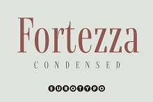 Fortezza Condensed by  in Serif Fonts
