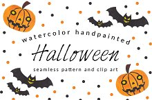 Halloween Pattern and Clip Art Pack