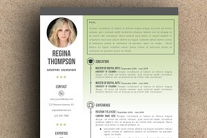 The Regina Resume pack - Green