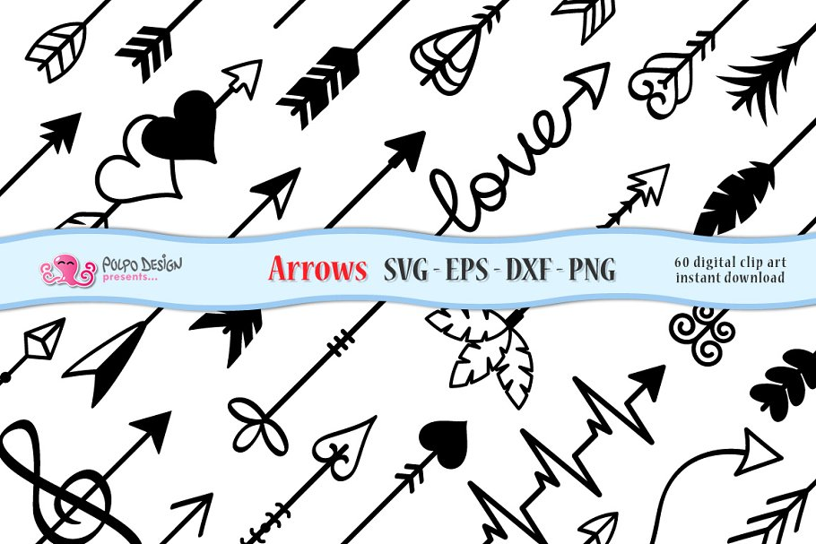Arrows SVG EPS DXF PNG