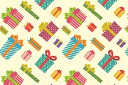 Colorful gift boxes pattern