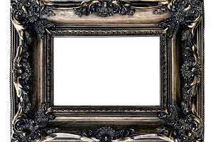 Dark gold baroque picture frame JPG