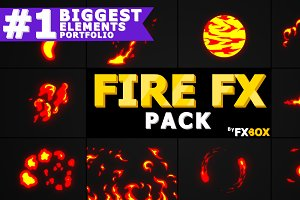 Cartoon Fire FX Motion Graphics