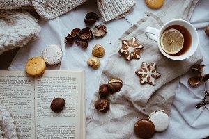 A cozy Christmas tea