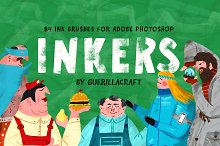Inkers for Adobe Photoshop by  in Brushes
