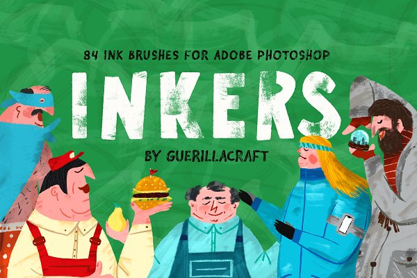Photoshop Brushes: Guerillacraft - Inkers for Adobe Photoshop