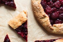 Pieces of homemade berry cake by  in Food & Drink
