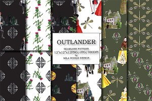 Outlander Seamless Pattern