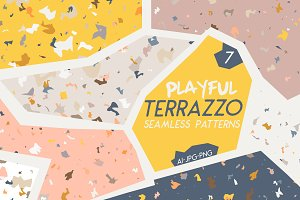 Playful Terrazzo Seamless Patterns