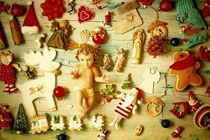 Christmas cards. Baby Jesus