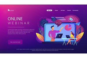 Online webinar landing page.