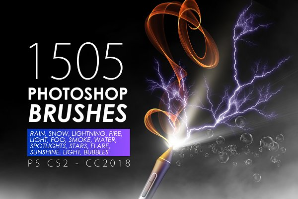 1505 Visual Effect Photoshop Brushe…