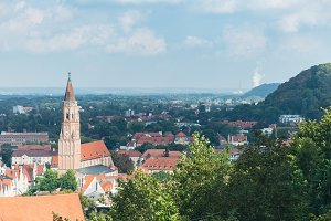 Views of landshut from the hill