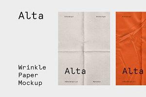 Wrinkle - Fold Paper Mockup
