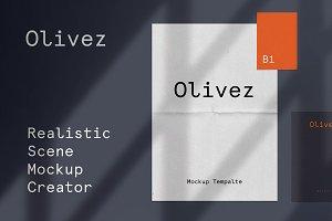 Olivez – Scene Mockup Creator Kit