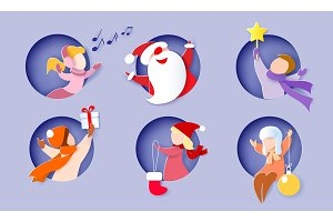 Christmas and New Year card with