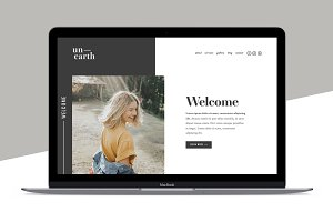 Squarespace Template: Unearth