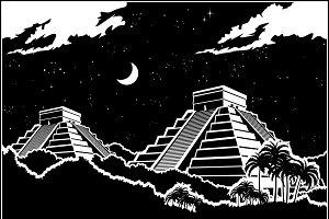 Mayan pyramids mini Set